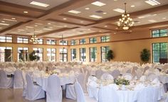 White Floor To Ceiling Windows, Small Groups, Banquet, Wedding Ideas, Table Decorations, Home Decor, Homemade Home Decor, Decoration Home, Wedding Ceremony Ideas