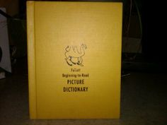 Follett Beginning to Read Picture Dictionary [Beginning to Read series] | Used, Rare, Vintage and Out of Print Books - www.ValiumBlueBooks.com #Books