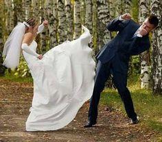 Wordless Wednesday Weddings: Attack of the Ninja Bride