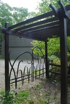 Custom Made Forged Iron Garden Gates