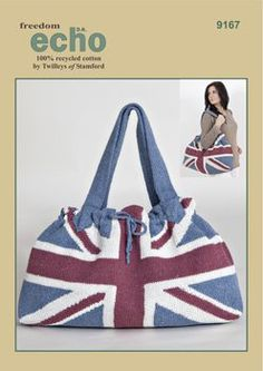 Union Jack bag knitting pattern