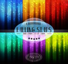 Falling Stars, Digital Backgrounds, Sparkles, Stardust, Printable backgrounds, Abstract Falling Stars, Product Presentation