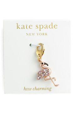 Women's kate spade new york 'how charming' novelty charm - Pink Multi- Flamingo Charm