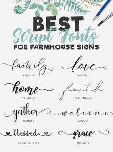 Fonts & Typography Script Handwritten Brush Calligraphy - Fonts - Ideas of Fonts - fontes Sign Fonts, Script Fonts Free, Tattoo Fonts Cursive, Hand Lettering Fonts Free, Tattoo Script, Tattoo Writing Fonts, Letter Fonts, Monogram Fonts, Script Writing Fonts