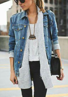 975f79070b38 Jeans Jacke Jeansjacke Kombinieren, Männer Frauen, Damenbekleidung,  Modetrends, Lässig Kleidung, Arbeitskleidung