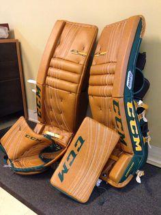 Hockey Pads, Goalie Pads, Goalie Gear, Hockey Goalie, Golf Bags, Camel, Ice, Cool Stuff, Sweet