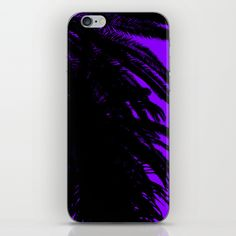 Palm Trees Silhouette - Purple Sunset iPhone & iPod Skin