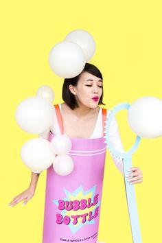 DIY Bubble Bottle Halloween Costume