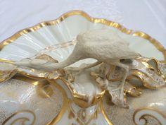 Antique Carl Tielsch Altwasser Germany Divided Serving Dish w Heron   eBay