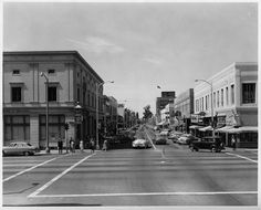 Second Street looking west at Garey (1952)   by 47specialdeluxe Street Look, Street View, Pomona California, Back In The Day, Places To Visit, Explore, History, Nifty, Cabinet