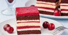 My Recipes, Cake Recipes, Sponge Cake, Food Cakes, Vanilla Cake, Tiramisu, Berries, Cheesecake, Cherry