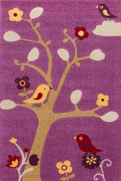 Ideal Lalee Kinder Jugend M dchen Teppich Muster V gel Konturen Gr e x cm
