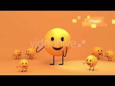 3D Toon Yellow Emoji Dance - Motion Graphic Project - Cartoon Animation Promo - TYKCARTOON - YouTube