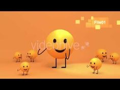 3D Toon Yellow Emoji Dance - Motion Graphic Project - Cartoon Animation Promo - TYKCARTOON - YouTube