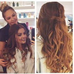 Pin by Isabela Barros on penteados in 2018 Ball Hairstyles, Homecoming Hairstyles, Down Hairstyles, Braided Hairstyles, Wedding Hairstyles, Wedding Hair And Makeup, Bridal Hair, Hair Makeup, Hair Wedding