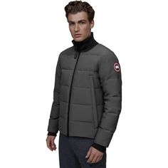 Canada Goose Woolford Down Jacket - Men's | Backcountry.com Cool Jackets, Winter Jackets, Concept Clothing, Warm Down, Parka Style, Commute To Work, White Ducks, Body Heat, Military Green