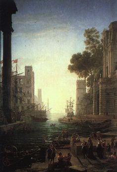 Claude Lorrain - Landscape with the Embarkation of Saint Paula Romana at Ostia