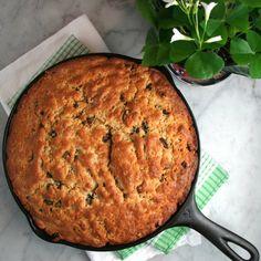 Skillet Irish Soda Bread- buttery, moist, & sweet- a wonderful breakfast or snack with aged cheddar & apples