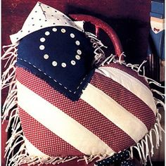 Patriotic Heart Pillow Sewing ePattern