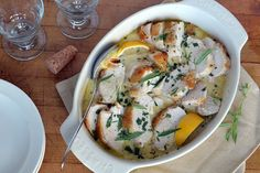 Weeknight Roast Chicken Breasts with Tarragon and Mustard Sauce | The View from Great Island
