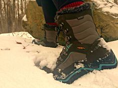 Demoing the new #KEEN Durand Polar Shell women's boots on the #BruceTrail #Ontario