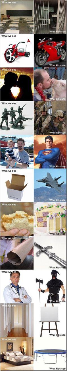 O mundo na visão das crianças... :)