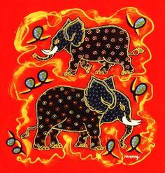 Cute Elephant, Textile Art, Fiber Art, Folk Art, Ethnic, The Creator, Textiles, Animal, Wall