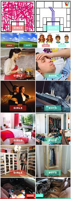 10 Reasons Why Men And Women Are Different #boysvsgirls #menvswomen #bemethis #funnycomparisons