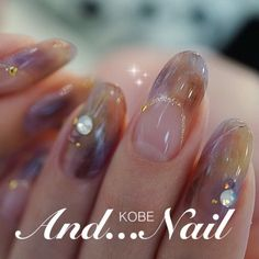 ★透明感ニュアンスネイル★ Nail Colors, Colours, Kobe, Nail Polish, Nail Art, Nails, Beauty, Passion, Finger Nails