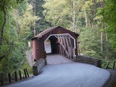 Covered bridge in Lancaster County Park. Lancaster, PA.