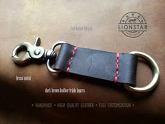 023 LIONSTARS Leather Keychain man gift husband by THELIONSTARS