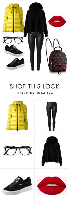 """Untitled #556"" by mandiexoxo1 ❤ liked on Polyvore featuring Moncler and Puma"