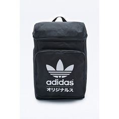 a68b45094d3b Adidas Typo Classic Backpack in Black and White (€49) ❤ liked on Polyvore