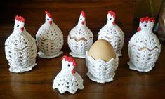 Handmade by Ecola & Dana Art - Wielkanocne kurki Easter Crochet Patterns, Crochet Patterns Amigurumi, Crochet Motif, Crochet Crafts, Crochet Projects, Free Crochet, Crochet Chicken, Crochet Decoration, Beading Patterns Free