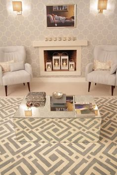 A reflective coffee table makes your living room (and carpet!) look incredible.