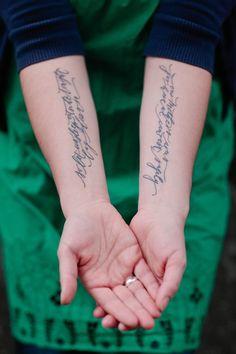 Beautiful script tattoo (by my new tattoo artist Robert Egbert at STTN- Wallingford!)