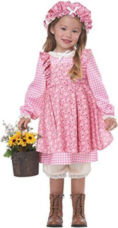 California Costumes Little Prairie Girl Toddler Costume Purim Costumes, Group Halloween Costumes, Toddler Costumes, Cool Costumes, Pioneer Dress, Pink Tights, Pink Costume, California Costumes, Pretty In Pink