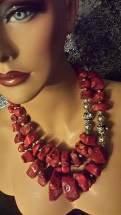 Hey, I found this really awesome Etsy listing at https://www.etsy.com/listing/234862318/vintage-rustic-red-coral-multi-strand