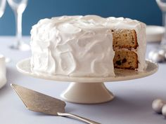 Simple Birthday Cake with Marshmallow Frosting Recipe : Alex Guarnaschelli : Food Network - FoodNetwork.com