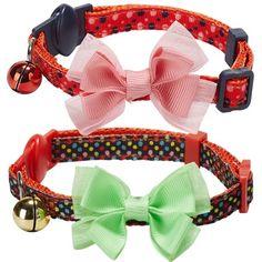 Breakaway Cat Collars, Crib Mattress, Different Patterns, Cat Love, Polka Dots, Bows, Prints, Designers