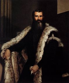 """1550-1560 - """"Portrait of a gentleman in a fur"""" by Paolo Veronese [1560~1569]. Palazzo Pitti (Italia)."""