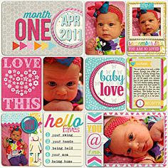 baby project life - month by month layout idea