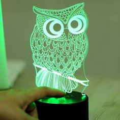 Cheap led night light, Buy Quality night light directly from China night light for kids Suppliers: 7 Color Owl Lamp Visual Led Night Lights for Kids Touch USB Table Lampara Lampe Baby Sleeping Nightlight Led Night Light, Light Up, Night Lights, Usb, Lampe 3d, Light Panel, Energy Consumption, Night Lamps, Art And Technology