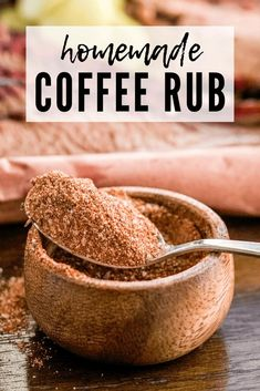 This homemade coffee rub is excellent on smoked or grilled meats, but especially slow smoked brisket or hot and fast grilled steaks. The secret is in the type of coffee I use! Grilled Steak Recipes, Grilled Meat, Grilled Steaks, Grilling Recipes, Smoker Recipes, Weber Recipes, Venison Recipes, Sausage Recipes, Meat Recipes