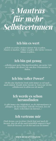 Ich bin gut genug , o… 5 mantras for more confidence and self-esteem. I'm good enough, o … 5 mantras for more confidence and self-esteem. Mantra, Mental Training, Health Logo, Psychology Facts, Forensic Psychology, Health Quotes, Not Good Enough, Health Motivation, Self Confidence
