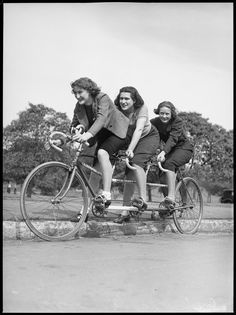 Australia, 1938   From State Library of New South Wales on Flickr Malvern Star, Tandem Bicycle, Bike Path, New South, Reference Images, Cool Pictures, Cycling, Stars, Couple Photos