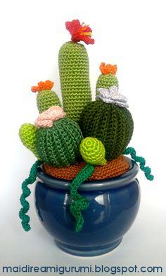 """Era un po' che non partecipavo ai contest dell'amigurumiworld, e mi mancava!   Questa volta il contest era a tema """"Cactus"""" e  in quest..."""