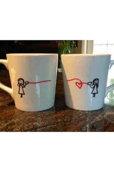 BEST FRIENDS Personalized mugs set of 2 by tensixeleven on Etsy, $30.00