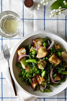 Wall Street journal Green Panzanella Recipe!  Thanks Pam for sharing this amazing recipe.