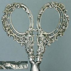 Ornate Antique English Sterling Silver Embroidery Scissors Hallmarked 1900 | eBay